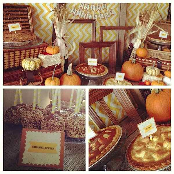 Use pumpkins to create the perfect fall setting for your autumn birthday party.