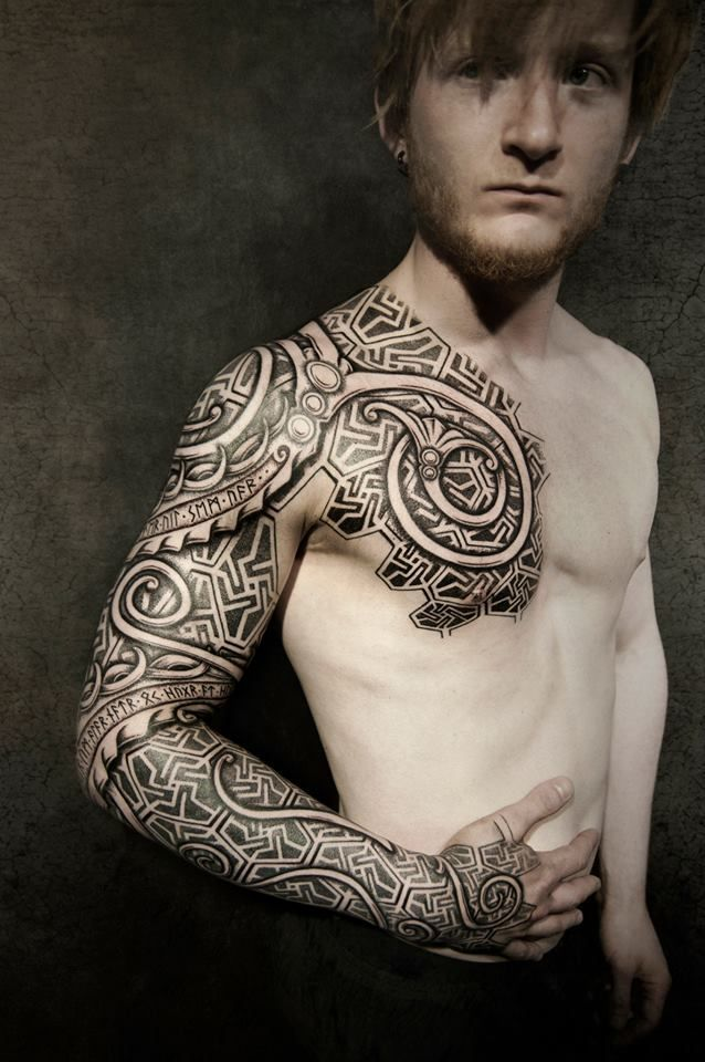 By peter walrus madsen vikings pinterest the shape for Viking tattoo sleeves