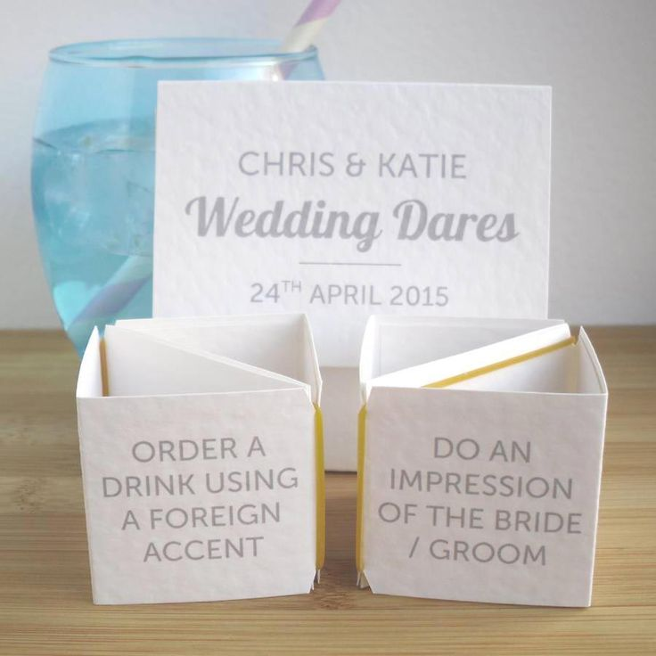 Wedding dare cards