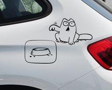 Hungry Simon Cat tigela JDM decalque engraçado gás combustível tampa do tanque capa de vinil adesivo para o caminhão do carro SUV janela pára choques parede de vidro Laptop(China (Mainland))