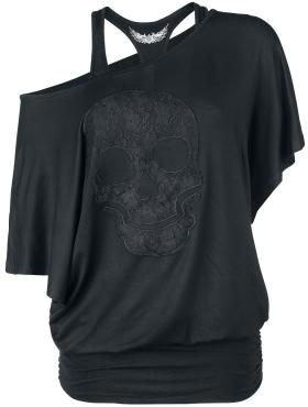 Rock Rebel by EMP T-Shirt »Lace Skull« | Buy now at EMP | More Rock wear T-shirts available online ✓ Unbeatable prices!