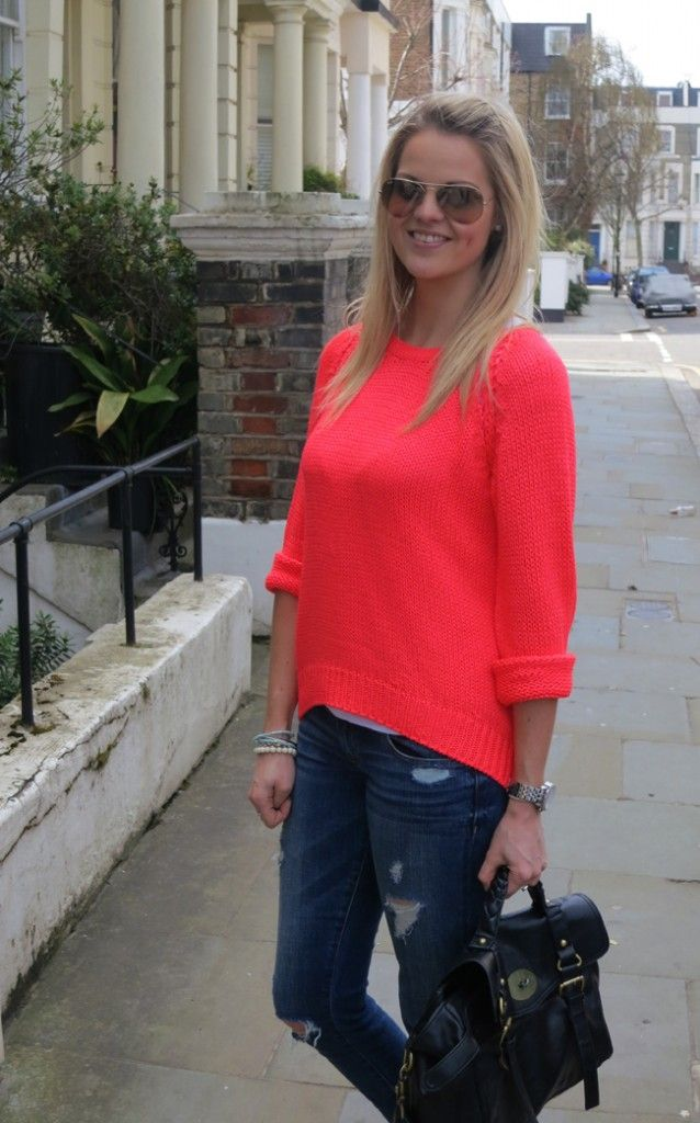Neon Coral Outfit of the Day