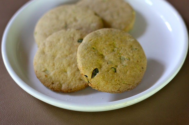 Lemon Pistachio Shortbread Cookies   Vegan, Wheat Free, Soy Free