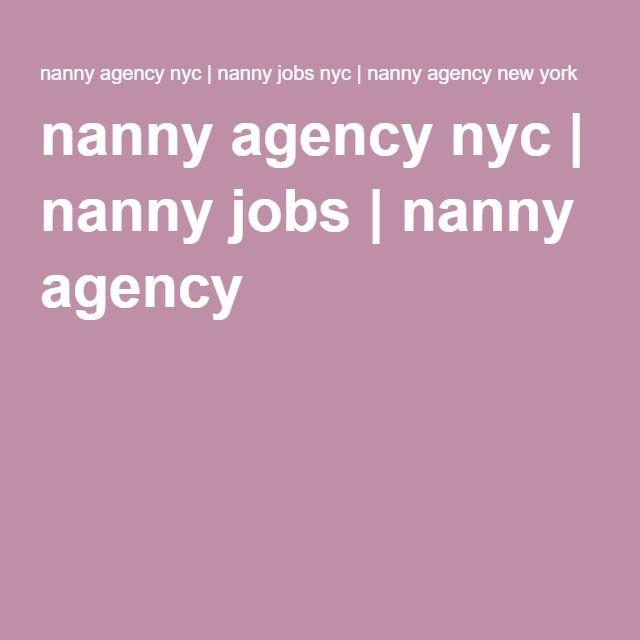 nanny agency nyc | nanny jobs | nanny agency