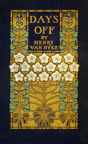 """""""Days Off and Other Digressions,"""" 1907. Cover design by Margaret Armstrong."""