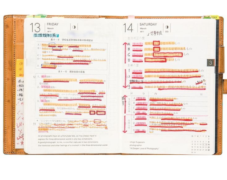 Business Use / Student Life - How It's Used - Hobonichi Techo 2018