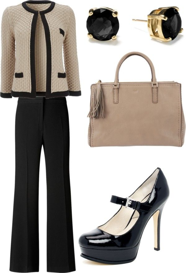 """""""Interview outfit"""" by nakhulo-khaimia ❤ liked on Polyvore - the only thing I don't like is the height of the heels - about half that is good for me and no platform."""
