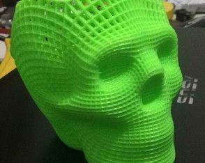 Porta Lápis de Caveira *** Objeto personalizável, feito através de impressora #3D #impressão3D #bmbideias