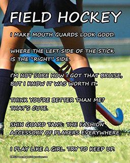 "Amazon.com : Unframed Field Hockey Player Stick 8"" x 10"" Sport ... …"