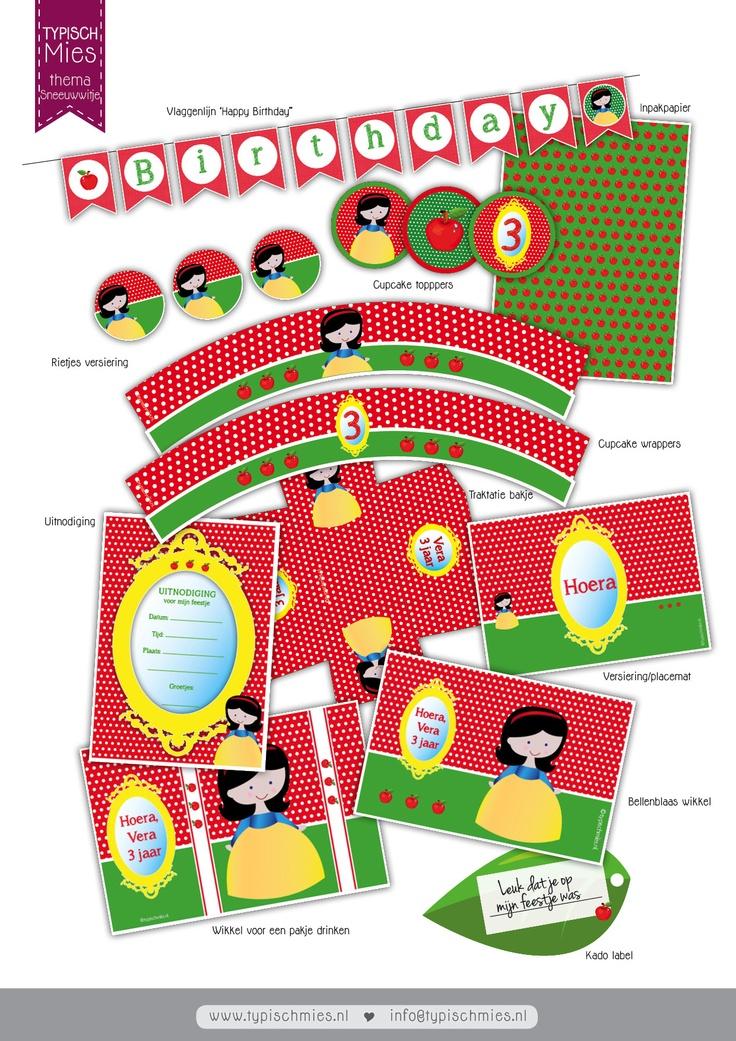 Met deze #printable van #Sneeuwwitje versiert u de leukste feestjes en maakt u zalf leuke #traktaties