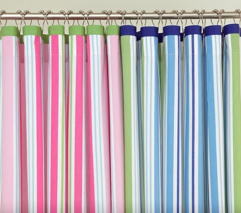 Pottery Barn Kids Parker Stripe Shower Curtain On Sale For 30 Girls Bathroom
