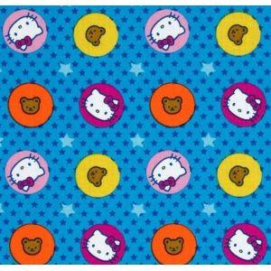 Tienda de telas patchwork HELLO KITTY SOBRE AZUL http://www.gloriapatchwork.com/tienda/hello-kitty/5920-hello-kitty-sobre-azul.html