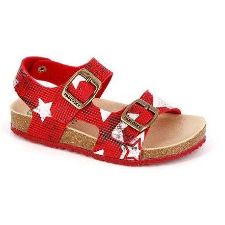 SANDALIAS ROJO 579060 Sandalia de la marca pablosky con estilo propio , zapato con cierre de hebillas para una mejor sujeción, suela tipo bios para mejorar la adaptación del pie