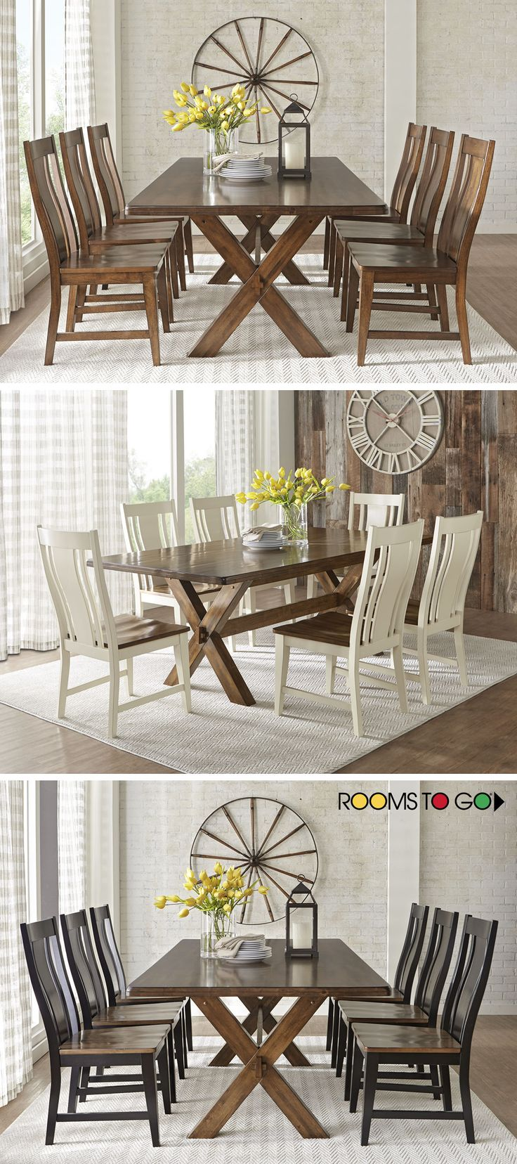 Brynwood white 5 pc round dining set dining room sets colors - Twin Lakes Brown 5 Pc 72 In Rectangle Dining Room Find Affordable Dining Room Sets For Your Home That Will Complement The Rest Of Your Furniture