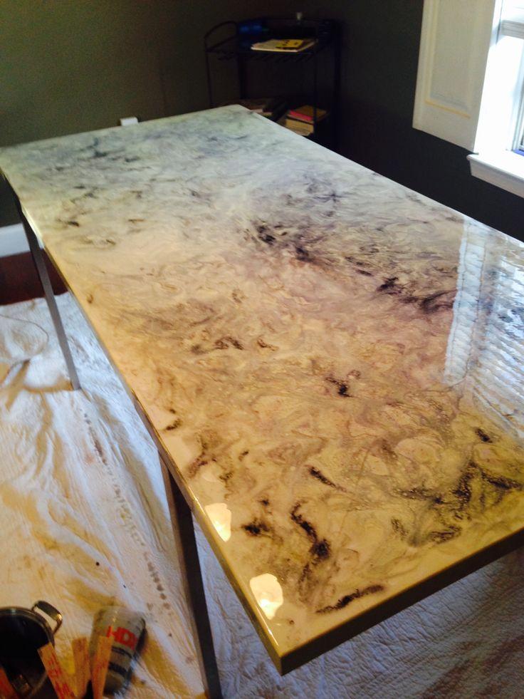 Stone Epoxy Countertops : The best ideas about epoxy countertop on pinterest