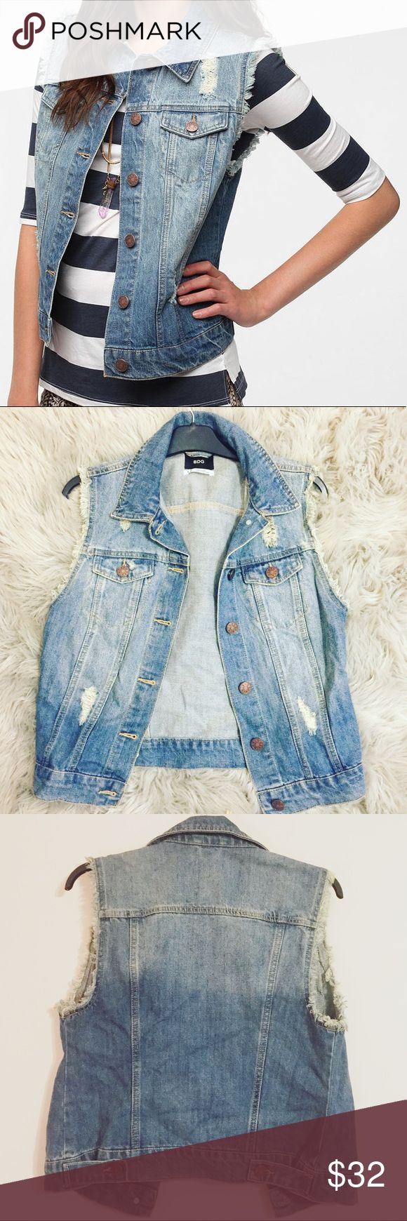 Urban Outfitters Jean Vest Jacket Jean jacket best from urban Outfitters. Perfect condition! Urban Outfitters Jackets & Coats Jean Jackets