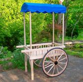 Another version of vendor cart. At a high end bake sale or fund raiser of some sort.
