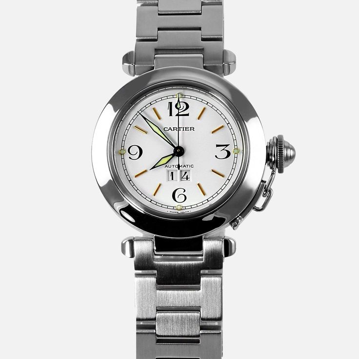 Cartier Pasha C Big Date Automatic 2475 Stainless Steel W31044M7