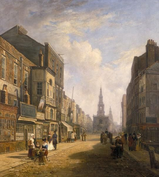 The Strand Looking East from Exeter Exchange (artist unknown, 1824)