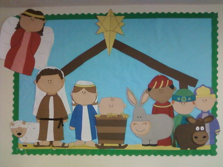 Religious bulletin board ideas for christmas my latest for Christian christmas crafts for preschoolers