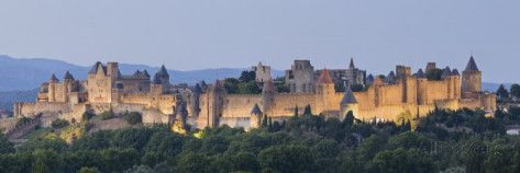 La Cite, Carcassonne, Medieval Walled City, UNESCO World Heritage Site, Languedoc, France, Europe Photographic Print by Guy Edwardes at AllPosters.com