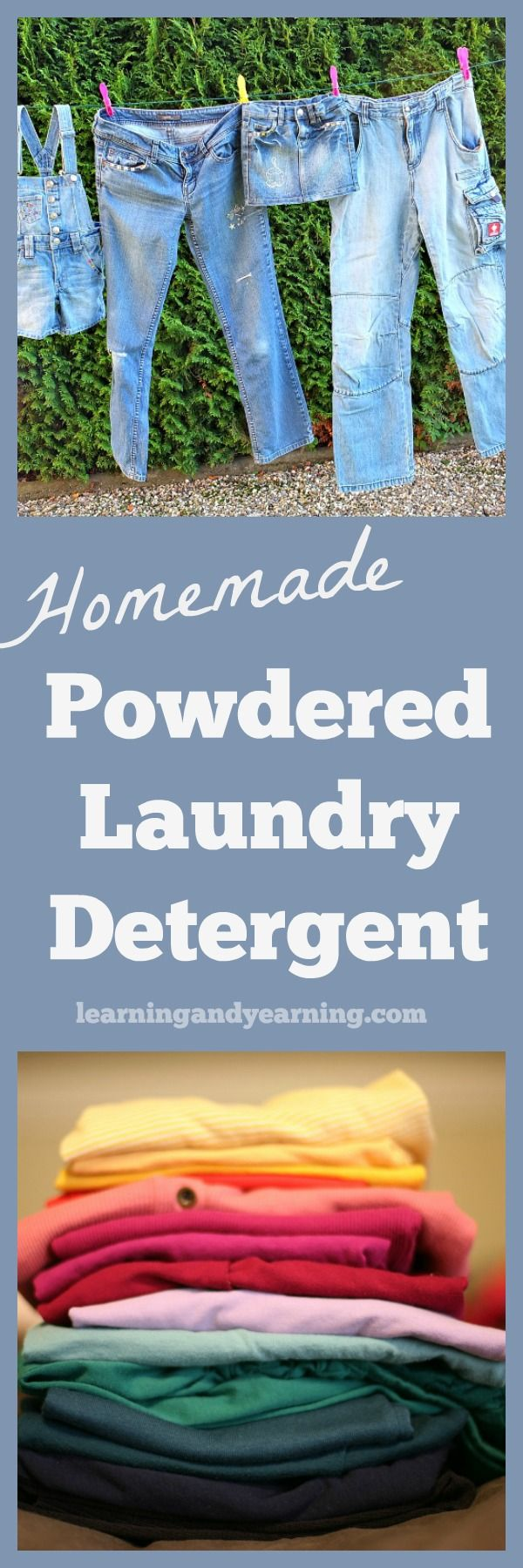 This homemade powdered laundry detergent is soap-and-borax-free, and uses no harmful chemicals. It's economical and easy to make as well!