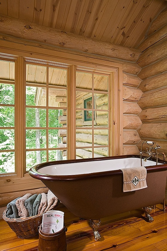 Claw Foot Tub Log Cabin Log Cabin Pinterest