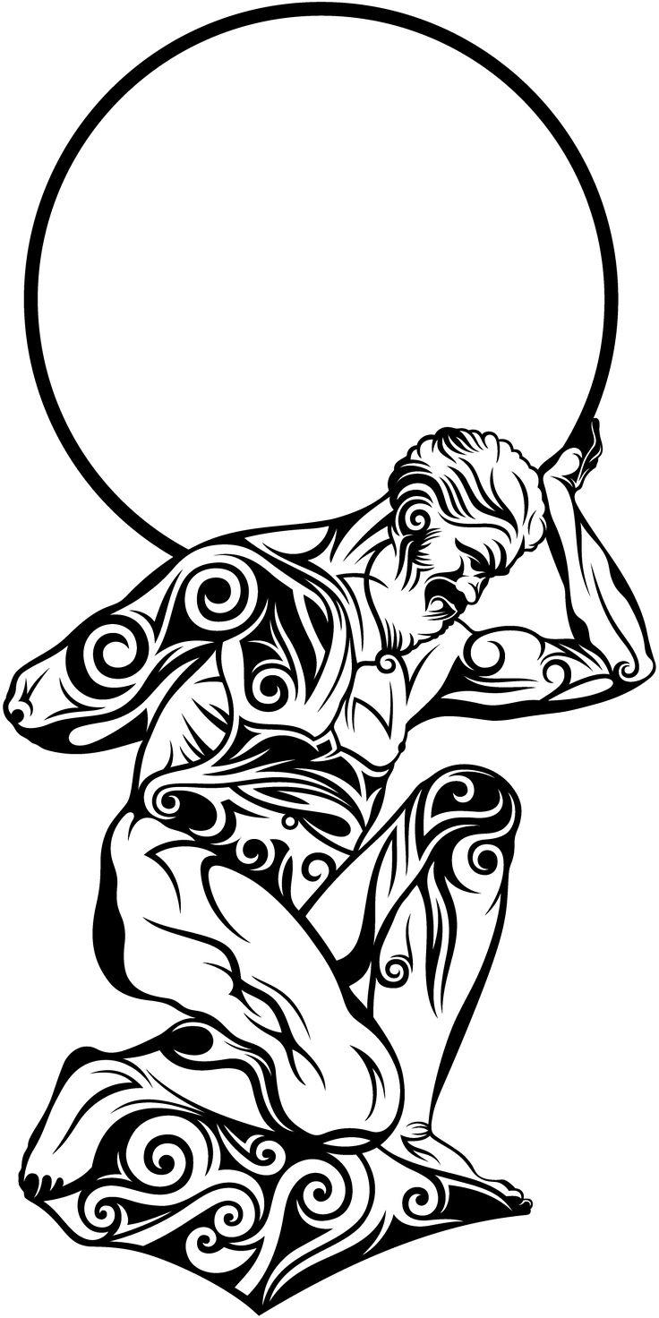 #designetattoo #tribaltattoo #tribalart #tattoo #mythologicaltattoo #tribalatlas #atlastattoo #greektattoo #menstattoo #shouldertattoo #armtattoo #intricatedesign #vectorart