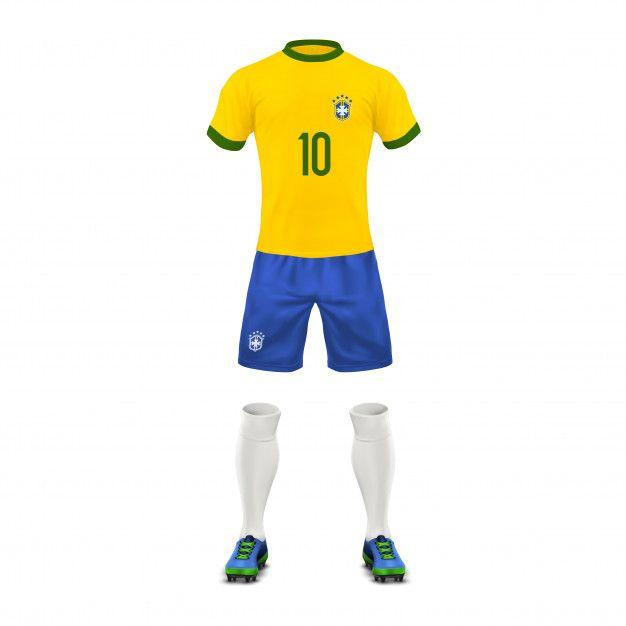 Download Download Soccer Uniform Of A Brazil Team Set Of Sports Wear Shirt Shorts Socks And Boots For Free Soccer Uniforms Soccer Kits Soccer