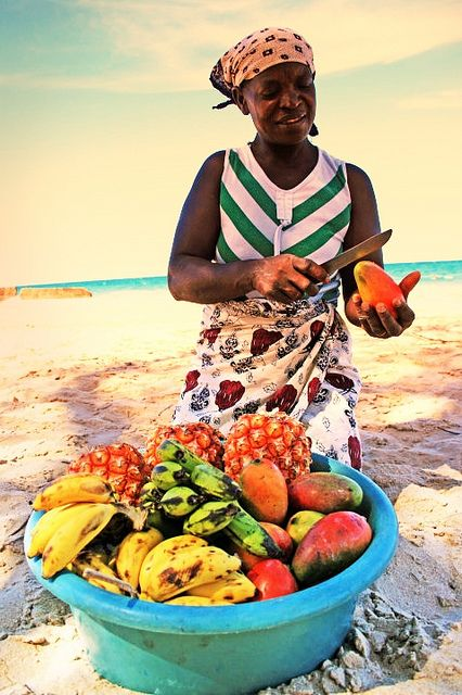Street Food ~ Fresh fruit in Mozambique