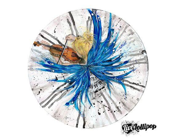 Fairy postcard circular print of original by LiviLollipopShop