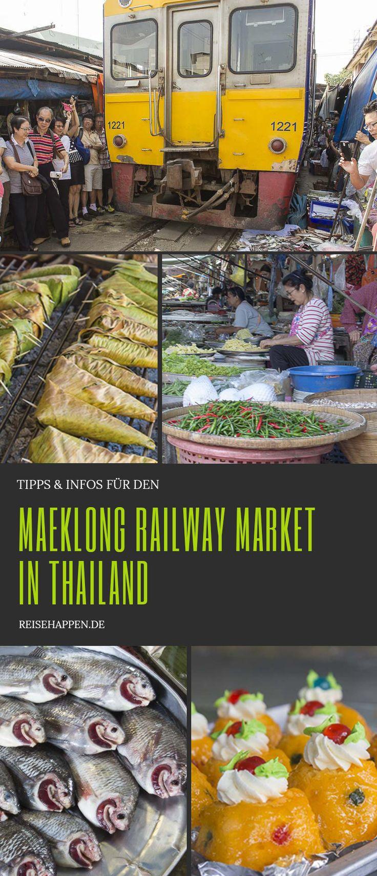 Der Maeklong Railway Market in Thailand  #Thailand #Bangkok #Asien