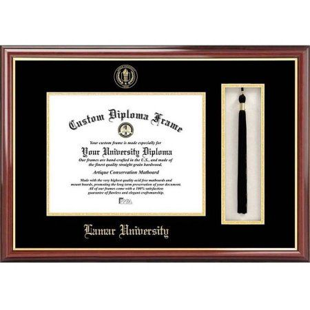Lamar University 11 inch x 14 inch Tassel Box and Diploma Frame