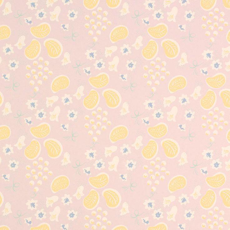 Charleston Grapes Pale Plum Wallpaper - Laura Ashley - $45.99 - domino.com