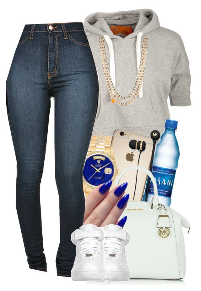 """Arrivedeci"" by jeaslove ❤ liked on Polyvore featuring Soul Cal, Michael Kors, BaubleBar, Rolex and NIKE"
