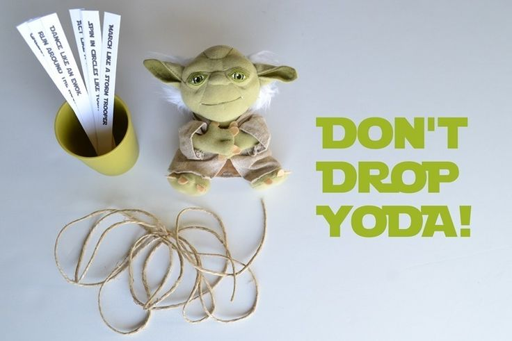 Star Wars Party Games including lightsaber training with pool noodles & balloons and don't drop Yoda!