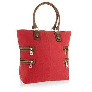 J by Jasper Conran Red canvas shopper bag - Shopper & tote bags - Handbags & purses - Women - Debenhams Mobile