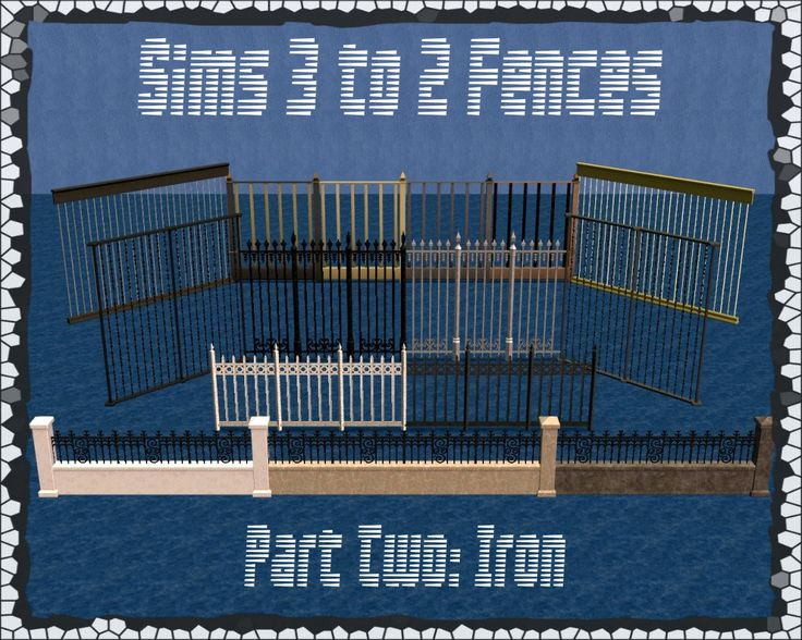 SIMULATED SITUATIONS - Some More Sims 3 Fences For Sims 2