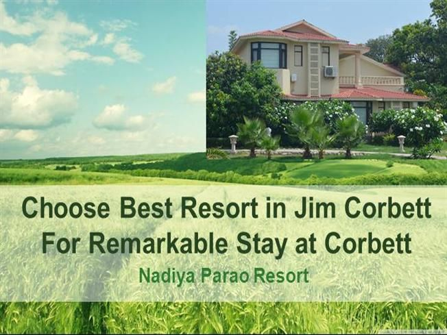 Choose Best Resort in #Jim_Corbett_National_Park - Nadiya Parao Resort for a lovely stay at Corbett. This Riverside #Resort at Jim Corbett offers you a reveling trip with lots of fun. This Luxury #4StarResort in Jim Corbett has 42 Well-furnished and Spacious Rooms. It has Swimming Pool with Separate Pool for Kids and a Multi-Cuisine Restaurant also to serve the best food to the tourists. http://bit.ly/28SUuJA