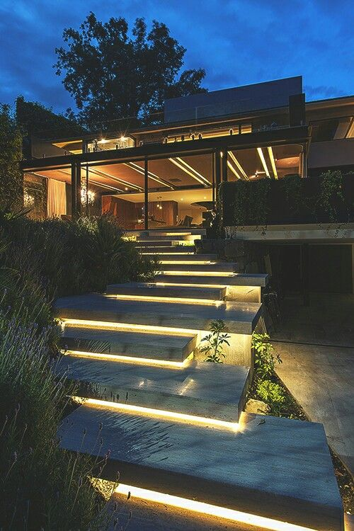 Landscape Lighting & Stairs... perfect match!