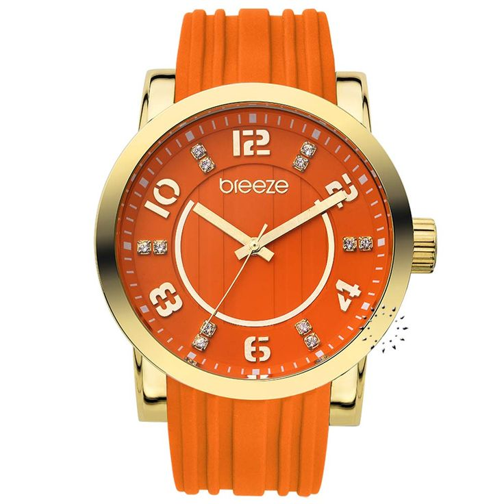 BREEZE Ocean Drive Orange Rubber Strap Τιμή Προσφοράς: 106€ http://www.oroloi.gr/product_info.php?products_id=30525