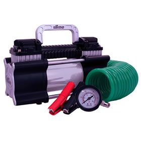 Slime 40026 2X Twin Cylinder Heavy Duty Tire Inflator at Air Compressors Direct includes free shipping, a factory-direct discount and a tax-free guarantee.