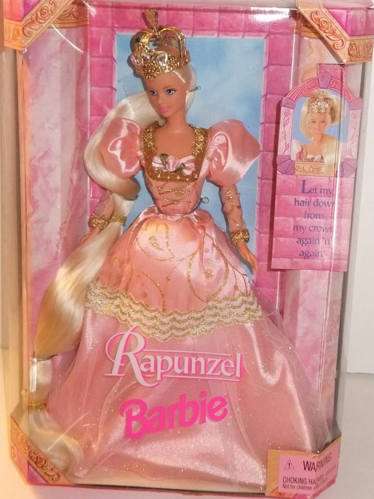 Barbie Rapunzel  Her hair pulled through her head to grow til it all got tangled