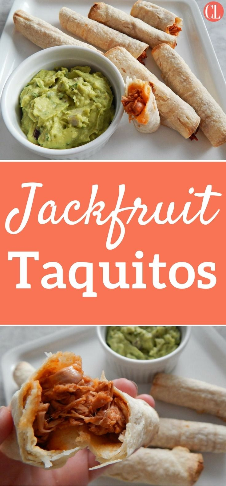 Crispy, spicy, and totally plant-based, these vegan taquitos make the ultimate party finger food. Shredded jackfruit mimics the texture of cooked chicken, while being doused in a tangy chipotle-infused sauce. These easy snacks are baked, not fried, to keep the calories low still creating that irresistibly crunchy texture. Serve with homemade guacamole on the side to cool down the peppery bite. | Cooking Light