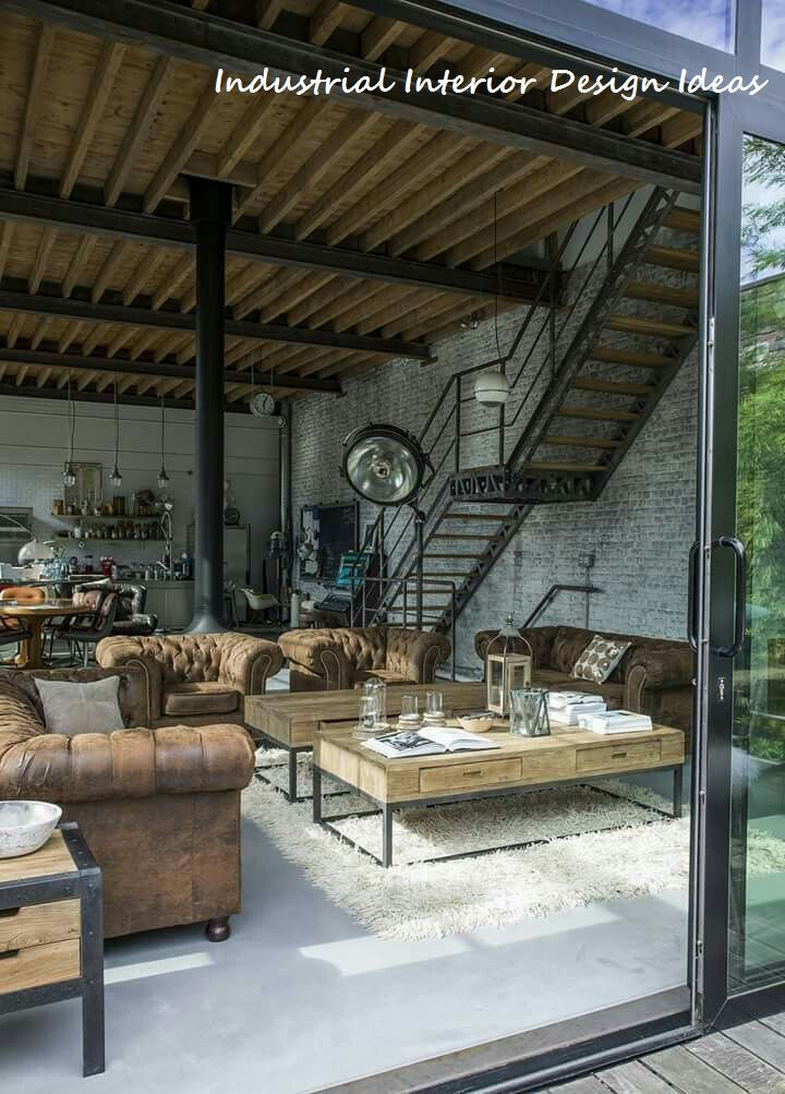 Diy New Industrial Interior Design Ideas Industrial Urban
