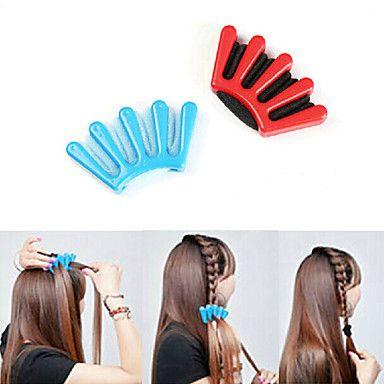 herramienta de diseño de moda trenzas de pelo trenzador peinado del cabello bricolaje (color al azar) – EUR € 2.84