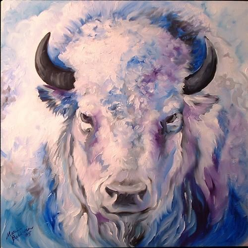 Marcia Baldwin: WHITE BUFFALO~     This would have looked stunning over my fireplace. Too bad it sold!