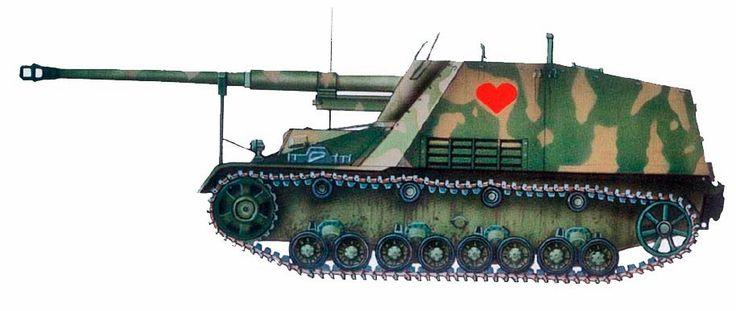 "Panzerjaeger «Hornisse» (Sd.Кlz.164); 8,8 см ""del Panzerjaeger-Abteilung 88. Bielorusia 1944."