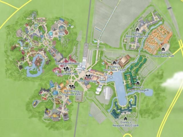 Maps of Disneyland Paris: Getting Oriented at Disneyland Paris Resort