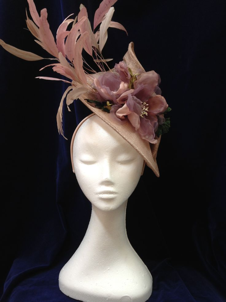 Mauve Magnolias Headpiece by Melissa-Gaye Designs Head to my #facebookpage #melissagayedesigns #millinery #hats #foft #fashionsonthefield #fascinators #melbournecup #springracing